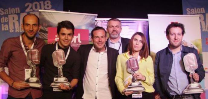 Les lauréats de l'édition 2018 au Salon de la Radio et de l'Audio Digital