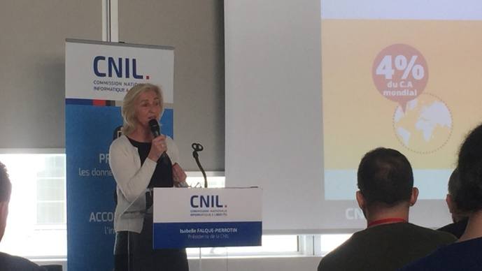 Isabelle Falque-Pierrotin, actuelle présidente de la CNIL, tiendrait la corde. Photo vidéo Public sénat