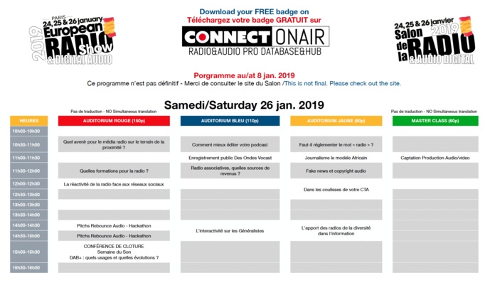 Salon de la Radio : tour d'horizon du programme 2019