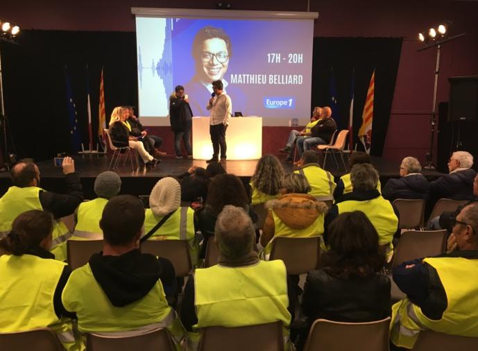 """Matthieu Belliard à Brignoles en délocalisation avec les """"gilets jaunes""""."""