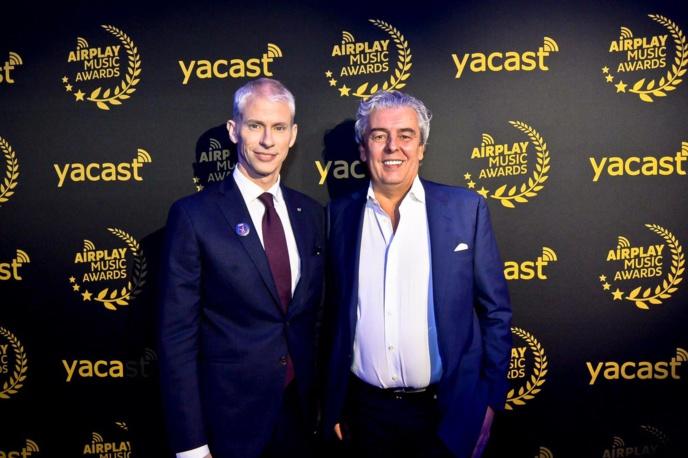 Le ministre de la Culture, Frank Riester, avait fait le déplacement, ici avec Jean-Michel Grapin, président de Yacast.