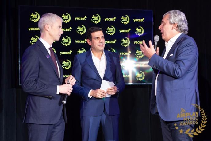 Frank Riester, Ali Mouhoub, DG de Yacast et Jean-Michel Grapin, président de Yacast.