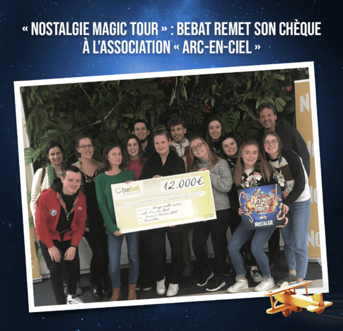 Nostalgie Magic Tour : un chèque pour l'association Arc-en-ciel