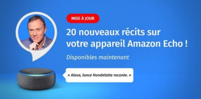 Hondelatte Raconte : 20 nouveaux récits à écouter sur Amazon Alexa