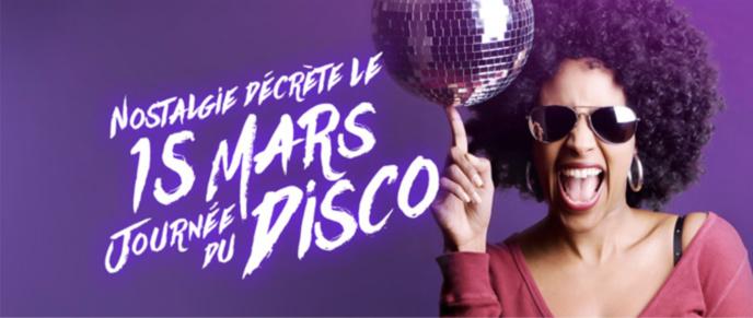 Ce 15 mars, ce sera la journée du Disco sur Nostalgie