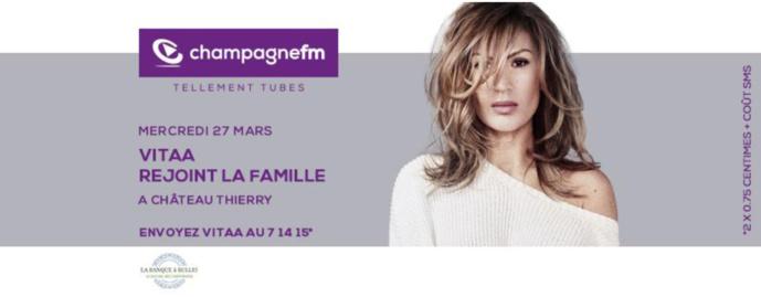 Vitaa invitée de Champagne FM