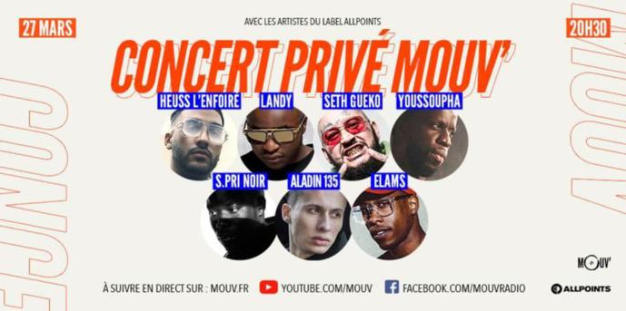 Mouv' organise un concert privé