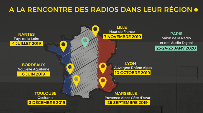Le Salon de la Radio lance le #RadioTour2019
