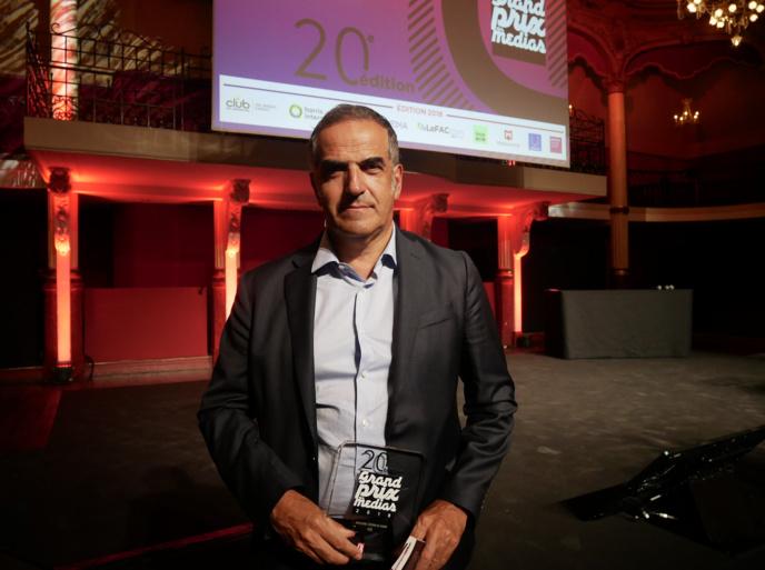 Christopher Baldelli au Grand Prix des Médias, en janvier dernier / Photo François Quairel