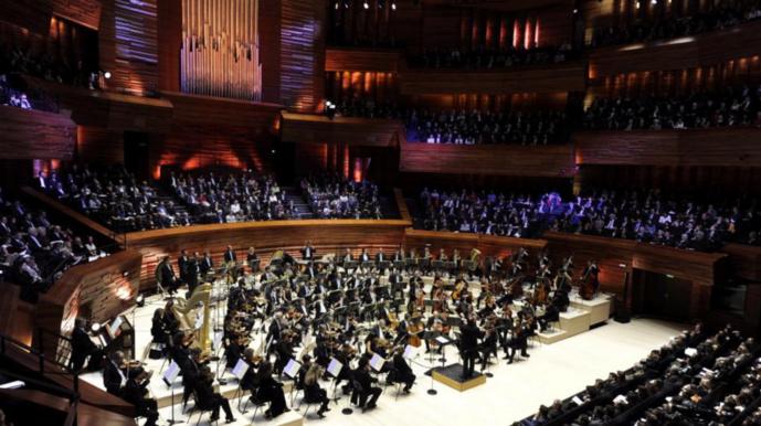 L'auditorium de Radio France ici avec l'Orchestre National de France © Christophe Abramowitz