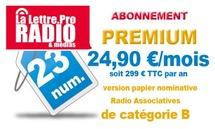 Nouveaux tarifs d'abonnement pour La Lettre Pro de la Radio et des Médias