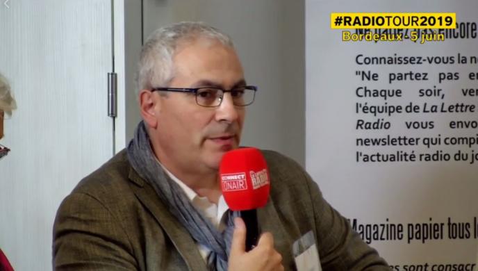 Denis Lespiaut, hier matin à Bordeaux lors de la première étape du RadioTour