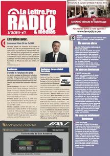 La Lettre Pro de la Radio n°7 vient de paraître