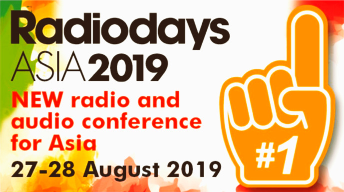Nouvelle édition des RadioDays Asia 2019