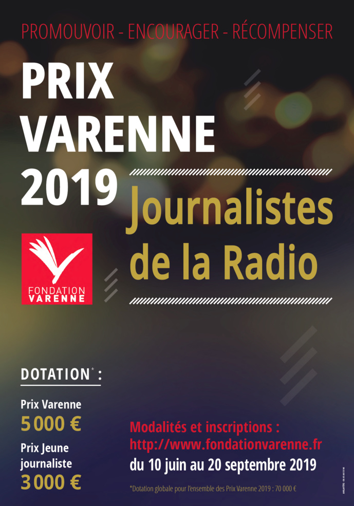 Lancement du Prix Varenne de la radio