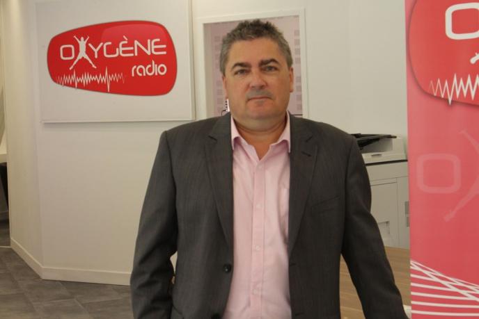 Laurent Rivron, directeur d'Oxygène Radio