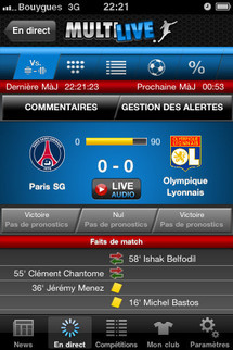 """Une Appli  """"Multilive"""" pour RMC Sport"""