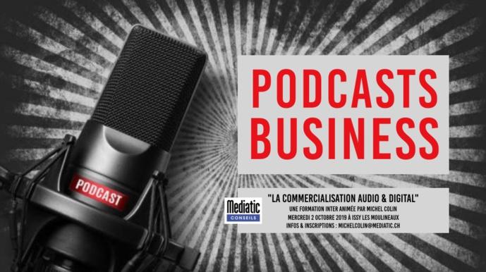 """Pour former vos équipes à la commercialisation des podcasts et des réseaux sociaux, inscrivez-vous à la formation inter-radio du 2 octobre à Issy-les-Moulineaux """"La commercialisation audio & digital""""."""