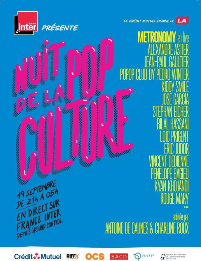 France Inter organise la Nuit la pop culture