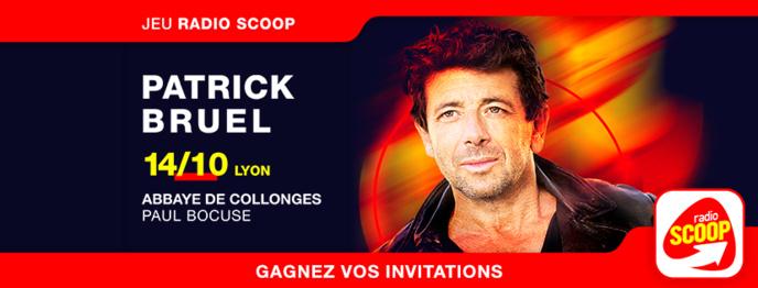 Radio Scoop reçoit Patrick Bruel à Lyon
