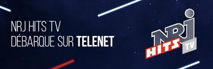 Belgique : NRJ Hits TV débarque sur Telenet