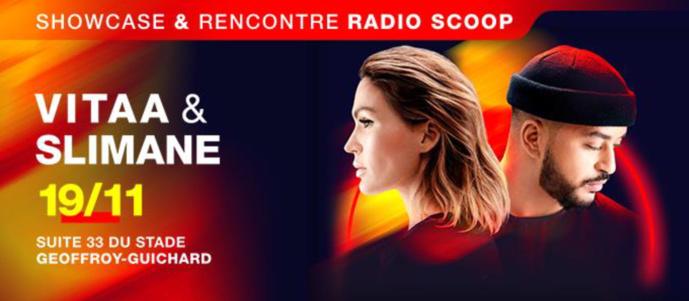 Radio Scoop reçoit Vitaa et Slimane à Saint-Étienne