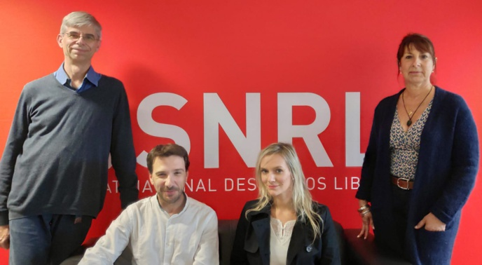 Yann Artiguelongue, Christophe Betbeder, Mélanie Charpentier-Torrente et Mireille Alfare de Lorenzo © SNRL