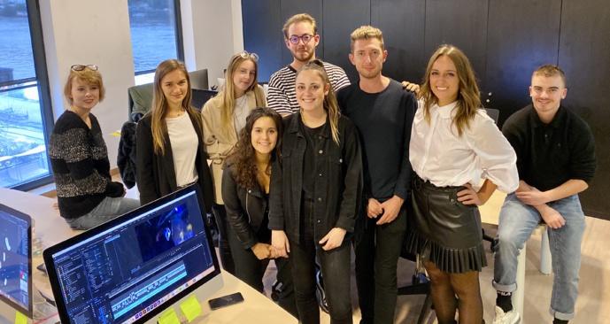 L'équipe du digital d'Espace Group qui gère le numérique pour l'ensemble des médias du groupe © Espace Group
