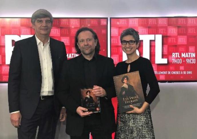 Jacques Esnous, directeur de l'Information RTL, Alain Ayroles et Monique Younès, journaliste RTL