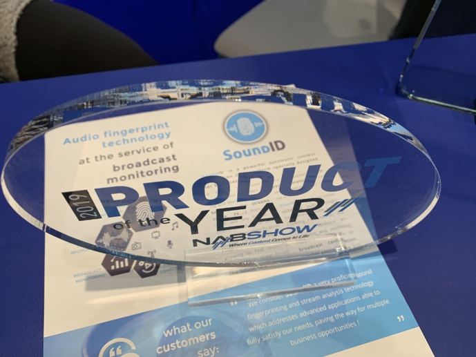 SoundID a reçu le prix Product of the Year au dernier NAB de Las Vegas