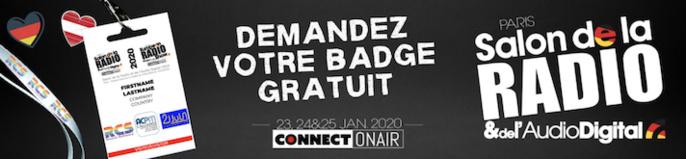 Salon de la Radio : téléchargez votre badge gratuit