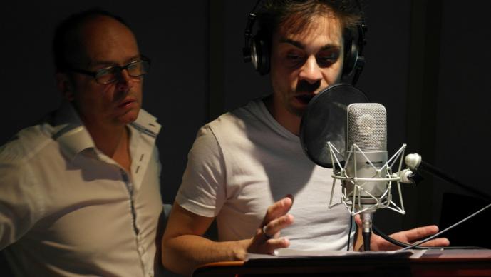 Pierre-Louis Rostagnat à L'école de la Voix, Vox Populi, forme en conditions réelles en studio.