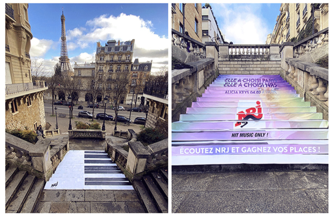 Vendredi, NRJ a investi les rues de Paris