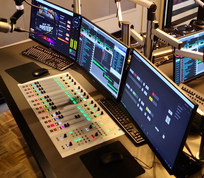 Une console Lawo équipe Q-dance Radio