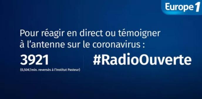 Covid-19 : Europe 1 reversera l'argent récolté du 3921 à l'Institut Pasteur