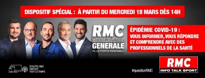 Covid-19 : RMC s'associe à la Fondation Hôpitaux de France