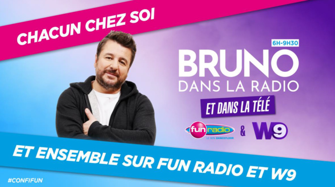 """Covid-19 : l'émission """"Bruno dans la radio"""" diffusée en direct sur W9"""