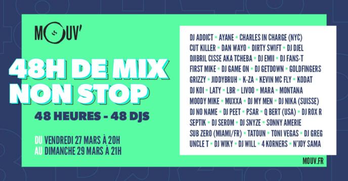 Covid-19 : sur Mouv', 48 heures de mix avec 48 DJs