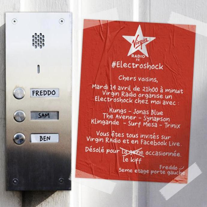 Virgin Radio organise sa soirée Electroshock