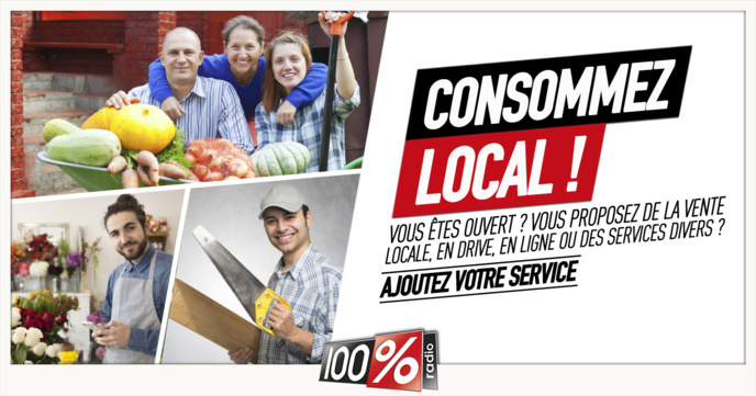 Covid-19 : la radio 100% se mobilise pour le commerce local