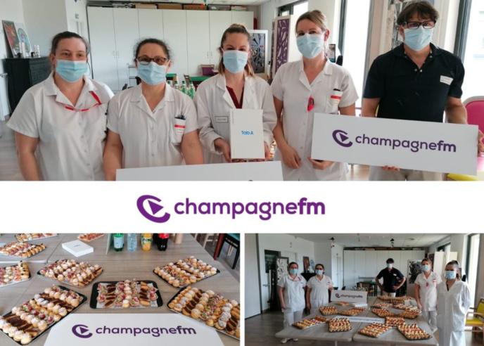 Covid-19 : Champagne FM offre des tablettes et des repas à un EHPAD