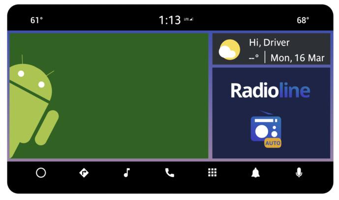 Radioline lance la radio Hybride sur Android Automotive OS avec Panasonic