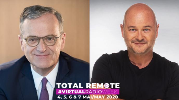 Roch-Olivier Maistre et Cauet en ouverture de la Virtual Radio Week