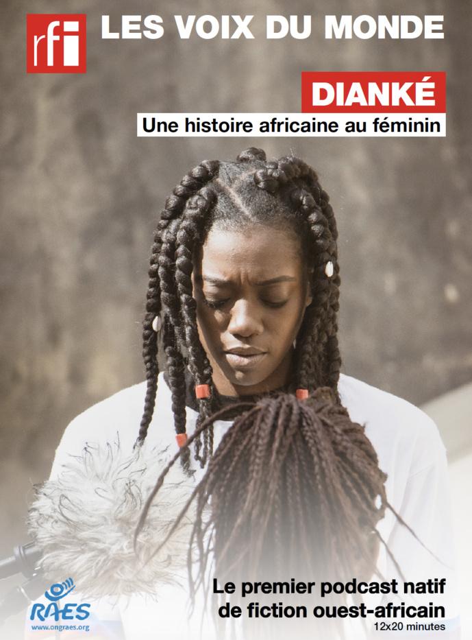 """""""Dianké"""" est une série radiophonique écrite par Insa Sané produite par RAES avec le soutien de l'Agence Française de Développement et CFI © Khalifa Hussein"""