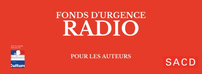Création du Fonds d'urgence SACD pour les auteurs de radio