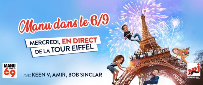 La matinale de NRJ diffusée depuis la Tour Eiffel