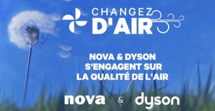 Radio Nova et Dyson s'engagent pour la qualité de l'air