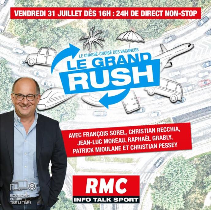 """François Sorel prépare """"Le Grand Rush"""" sur RMC"""
