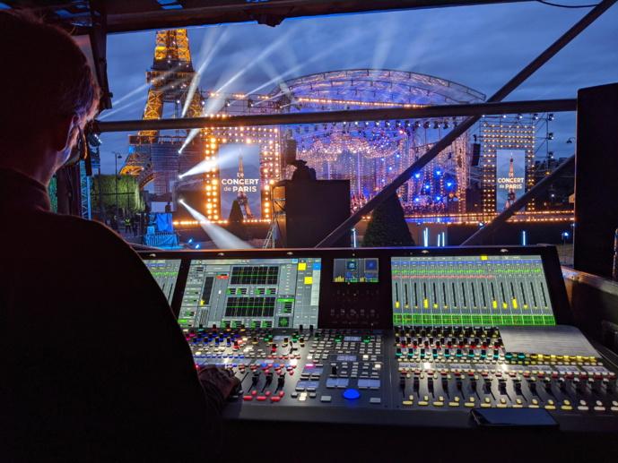 """Le """"Concert de Paris"""" a été mixé avec des consoles Lawo mc²"""