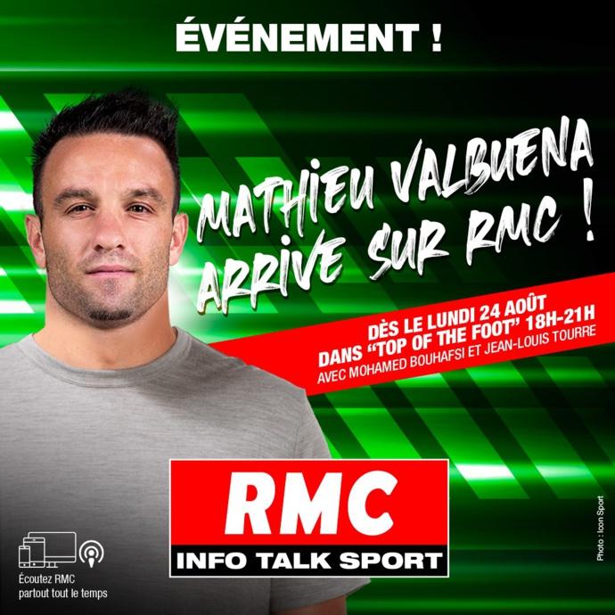 """Mathieu Valbuena arrive sur RMC dans """"Top of the Foot"""""""
